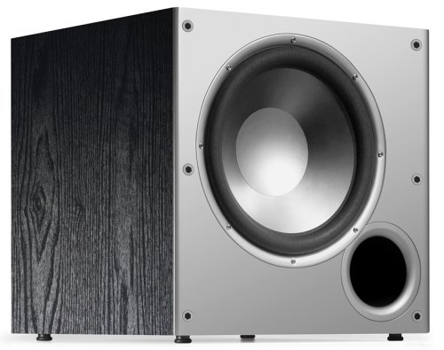 Polk Audio PSW10 10' Powered Subwoofer - Featuring High Current Amp and Low-Pass Filter | Up to 100 Watts | Big Bass at a Great Value | Easy integration Home Theater Systems