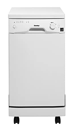 Image result for Danby Portable 8 Place Standard Setting Dishwasher, White