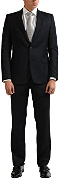 Versace Collection Men's Wool Cashmere Charcoal Two Button Suit