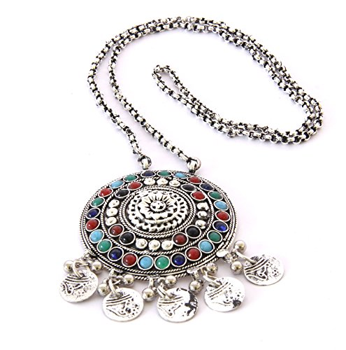 Handmade Costume Fashion Jewelry Sweater Boho Long Necklace Pendant Afghan Tribal Gypsy Festival Gift ()