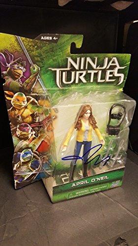 MEGAN FOX signed TEENAGE MUTANT NINJA TURTLES TMNT April O'Neil Action Figure