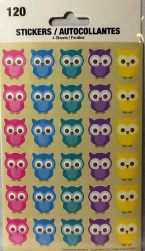 Carson Dellosa Colorful Owls Shape Stickers 168078