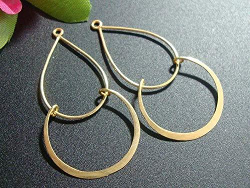 - 4 pcs, Handmade Findings, 24K Vermeil Over Sterling Silver, Modern Double Loops Chandelier, Pendant, Earring Findings - CC-0001