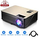 4000 Lumens Projector Full HD LCD Multimedia 1920 x 1080P Video Projector Home
