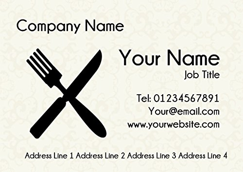 Personalized Chef Restaurant Chef Cutlery Cards Restaurant Business 87vf0I8q