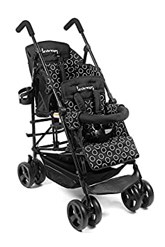 Amazon.com : Kinderwagon Hop Tandem Umbrella Stroller - Black v2 ...