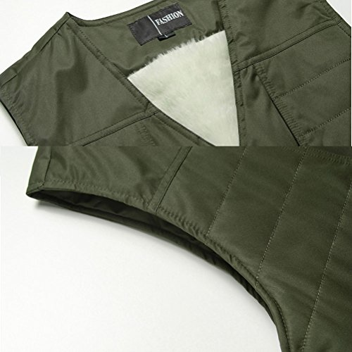 Sportswear Size Pesca xl Camping Zhhlaixing Outdoor Traveling Photography Button Uomo Thicken Jacket Giacche Vest Mens Green 5xl Fishing Winter ZxqOfwx