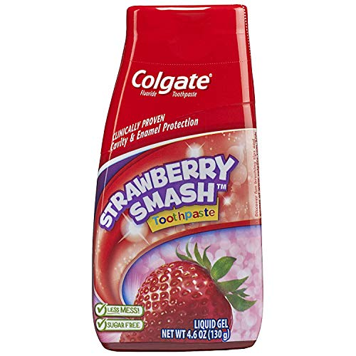 Colgate 2-in-1 Kids Toothpaste and Anticavity Mouthwash, Strawberry Smash, 4.6 - Blast Delicious Fruit