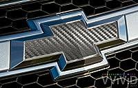 VViViD XPO Gunmetal Grey Carbon Fiber Chevy Bowtie Logo Wrap Kit