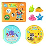 Baztoy Baby Bath Toys Book Safe & Non-Toxic Early Education Toys for Toddlers