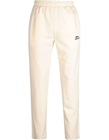 ND Mens Cricket Whites Sports Training Pants Navy Piping Trouser White XX-Large