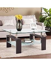 Mecor Rectangle Glass Coffee Table