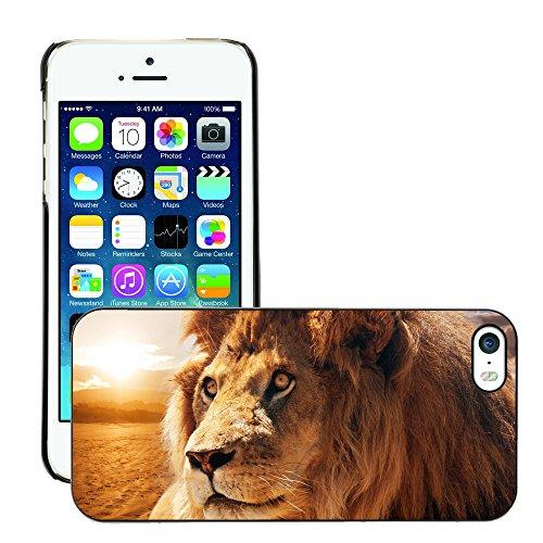 Premio Sottile Slim Cassa Custodia Case Cover Shell // V00002221 lion Majestic // Apple iPhone 5 5S 5G
