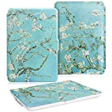WALNEW Cover for White Kindle Paperwhite PU Leather Case Smart Protective Cover fits All Paperwhite Generations Prior to 2018 (Not fit All-New Paperwhite 10th Generation)