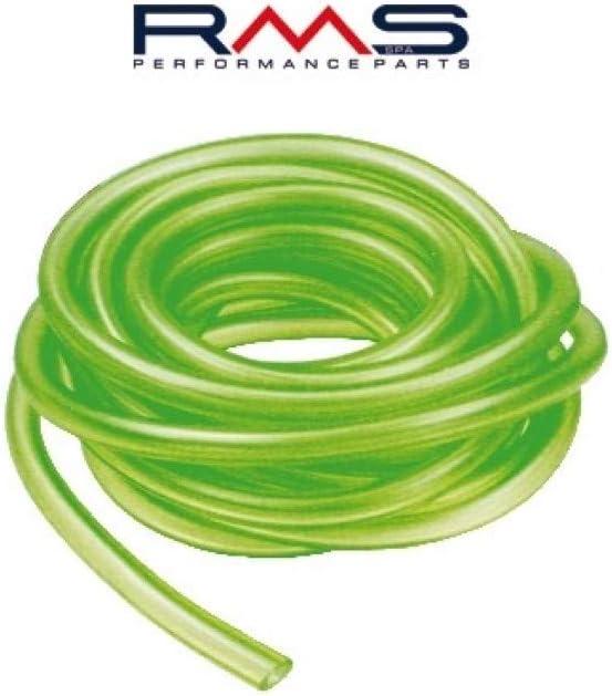 Manguera de Combustible Verde y Transparente, Dimensiones de 7/4mm, 1m