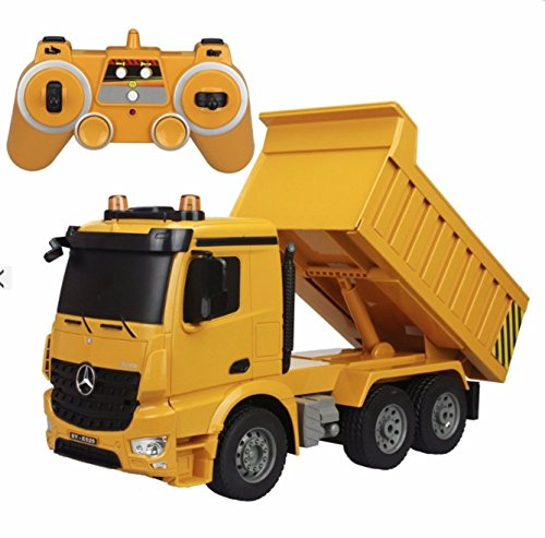 6-wheel Babybear Dump Truck Double Eagle Radio Remote control Truck Mercedes Benz Actros size 1/20