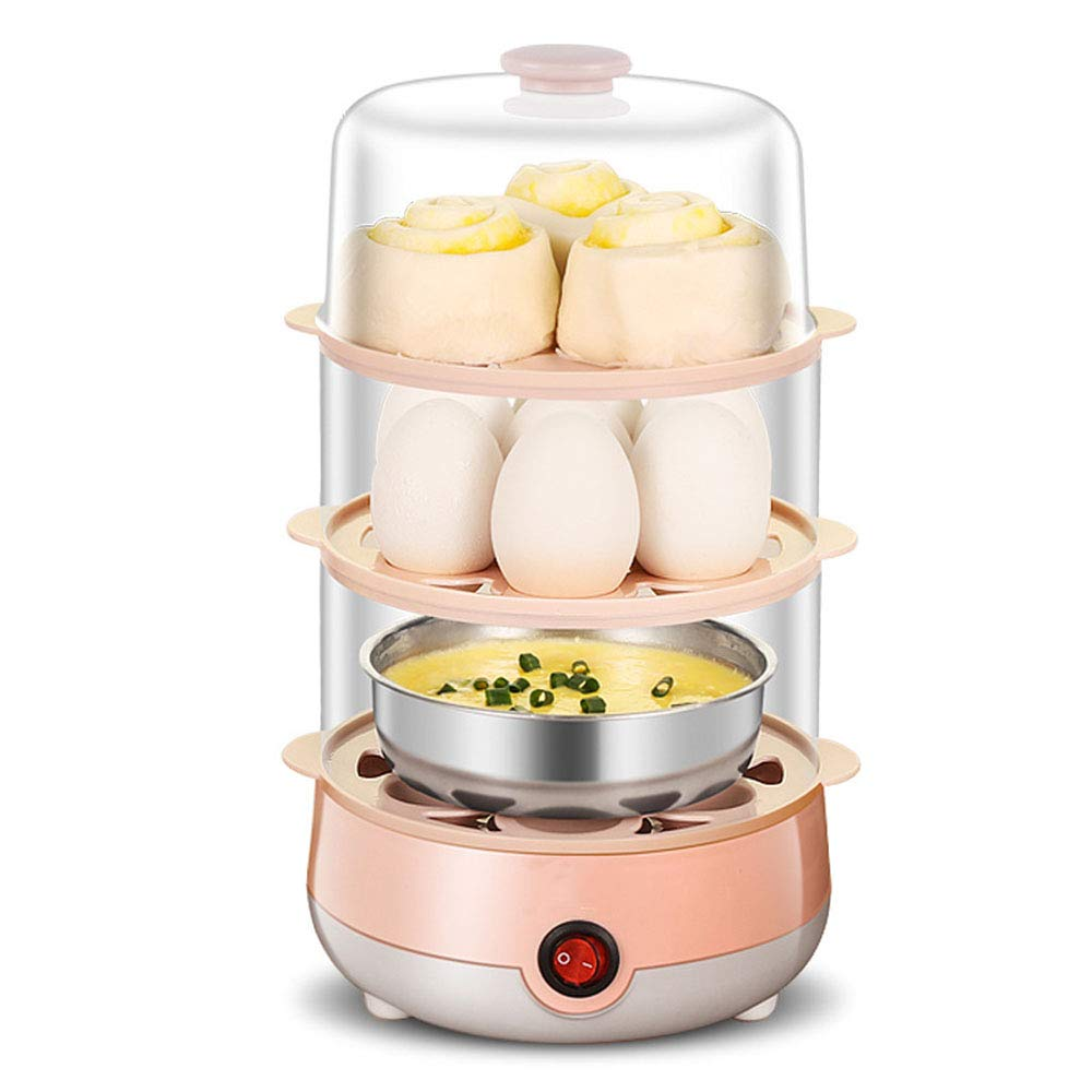 QYCL Steamed Egg Pot, Multi-Function Three-Layer Steamed Egg Household Mini Egg Cooker Steamed Egg Kitchen Breakfast Machine