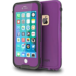 """CellEver iPhone 6 / 6s Case Waterproof Shockproof IP68 Certified SandProof Snowproof Full Body Protective Cover Fits Apple iPhone 6 and iPhone 6s (4.7"""") - Purple"""
