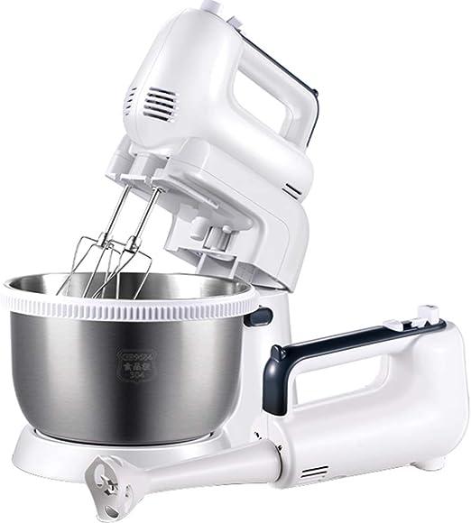 2 En 1 Mano Y El Soporte Robot De Cocina Mezclador De La Torta Mezclador con 5 Velocidades Y Función Turbo Beaters Incluye Ganchos para Masa Y Batidor: Amazon.es