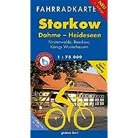 Fahrradkarte Storkow, Dahme, Heideseen: Mit Spree-Radweg. Mit UTM-Gitter für GPS. Maßstab 1:75.000. Wasser- und reißfest. (Fahrradkarten)