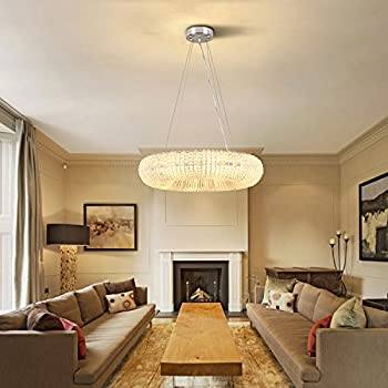 crystal halo chandelier modern contemporary lighting floating chandelier 236 wide - Orb Chandelier Dining Room