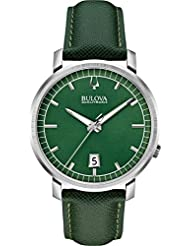 Bulova Accutron II - 96B215 Green Leather Strap