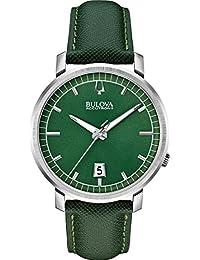 Bulova Accutron II - 96B215 Green Leather Strap