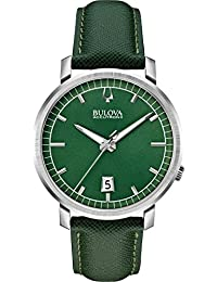 Bulova Men's Accutron II 96B215 Green Leather Quartz Watch