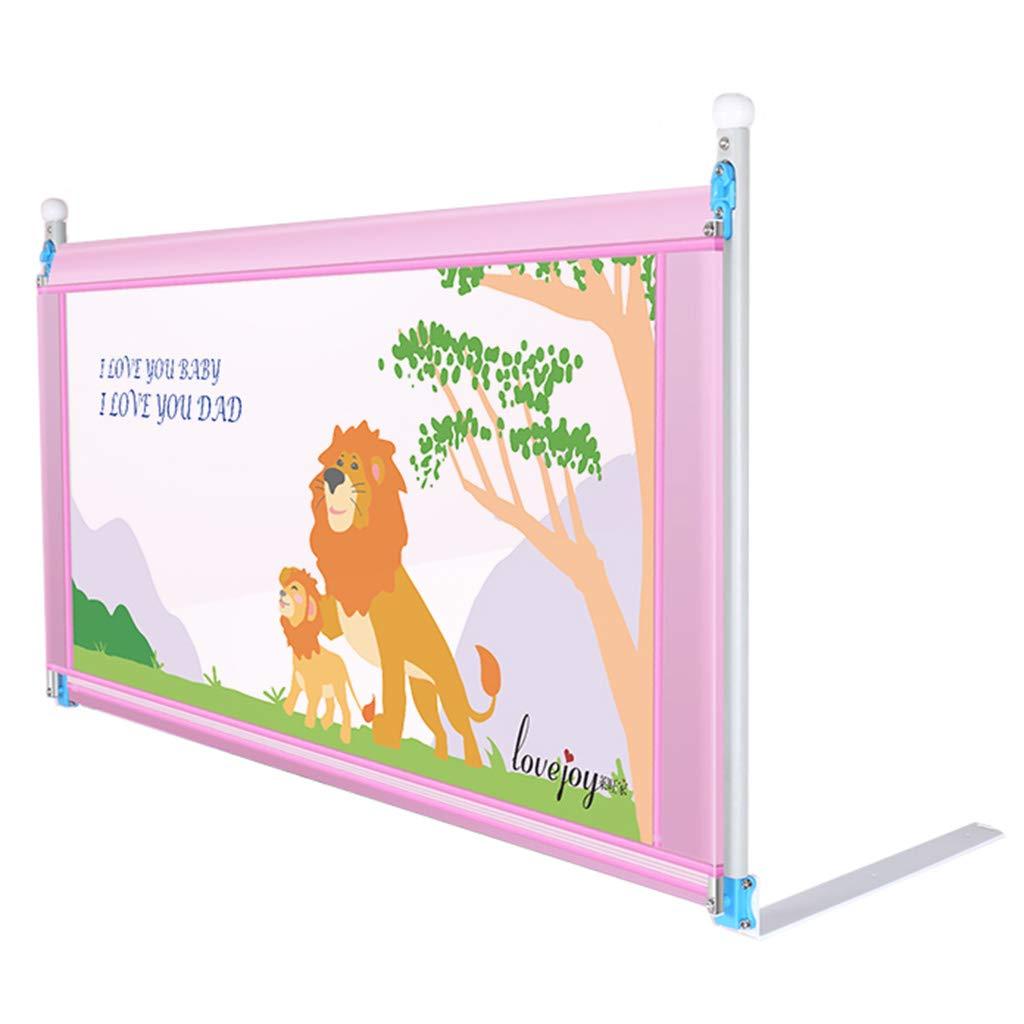 余分な背の高いとロングベッドレイルピンクの子供のための折り畳み式ベビーベッドガードレールダブルベッド (サイズ さいず : Length 180cm) Length 180cm  B07JLZ89F8