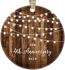 Traditional & Modern 4th Wedding Anniversary Gifts for Women & Men