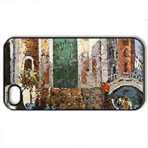 Streets Of Water - Case Cover for iPhone 4 and 4s (Watercolor style, Black)