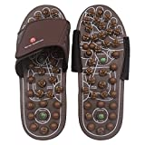 BYRIVER Acupressure Foot Massager Jade Stone Acupoint Massage Slippers Shoes Reflexology Sandals for Men Women(S)