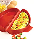 Best Anolon Roasting Pans - NORPRO 930 SILICONE MICROWAVE OMELET MAKER, RED Review