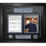 Frameworth Matthews, A Framed First Game Scoresheet Collage, Large, Black