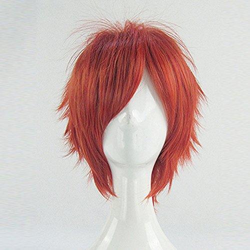 Uta No Prince-Sama Nanami Ittoki Otoya Orange Red Short Cosplay Wig + Free Wig Cap -