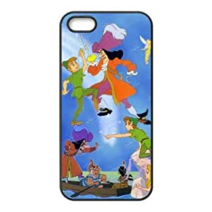 Durable Rubber Cases iPhone 5, 5S Black Cell phone Case Ijsco Peter Pan Protection Cover