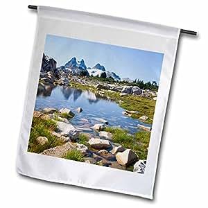 Danita Delimont - Washington - Washington, Alpine Lakes, Chimmney Rock, tarn - US48 JWI3129 - Jamie and Judy Wild - 12 x 18 inch Garden Flag (fl_96336_1)
