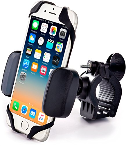 Metal Bike & Motorcycle Mount - For any Smartphone (iPhone 8 & X, Samsung, other Cell Phones) | Unbreakable Metallic Handlebar Holder for ATV, Bicycle or Motorbike. +100 to Safeness & (Most Atv)
