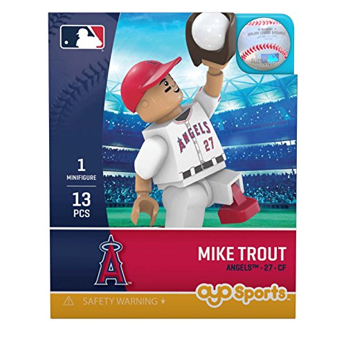 (OYO MLB Los Angeles Angels Gen5 Limited Edition of Anaheim Mike Trout Minifigure, Small, White)