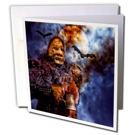 2 Pack Tankard Set - Doreen Erhardt Halloween Collection - A Tankard of Harvest Brew Makes You Howl at the Moon on Halloween - 12 Greeting Cards with envelopes (gc_240112_2)