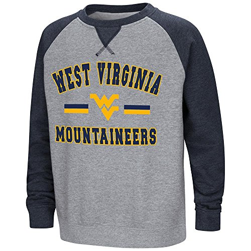 - Colosseum Youth West Virginia Mountaineers Fleece Crewneck Sweatshirt - S