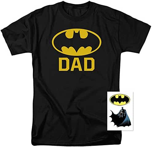 Batman Batdad Classic Logo for Fathers and Dads T Shirt & Stickers