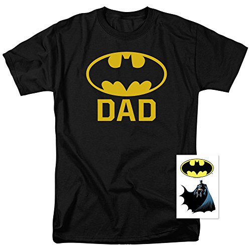 Batman+Shirts Products : Batman Batdad Classic Logo for Fathers and Dads T Shirt & Stickers