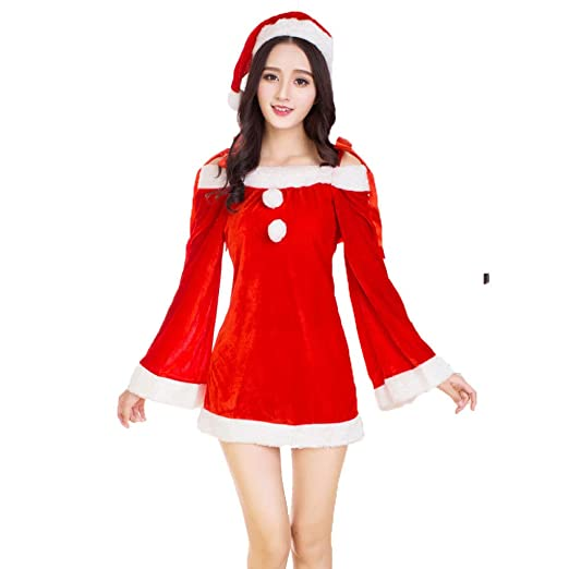 Yunfeng Disfraces de Papá Noel para Mujer Navidad Sexy Disfraces ...