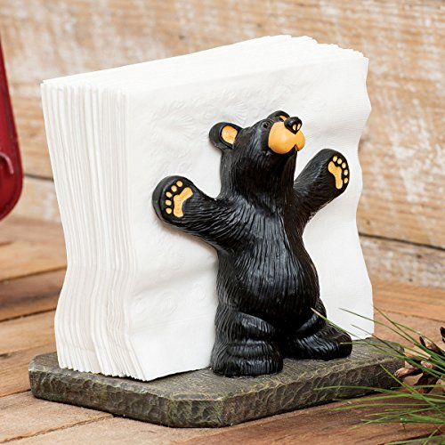 - Joe & Roscoe Black Bear Napkin Holder
