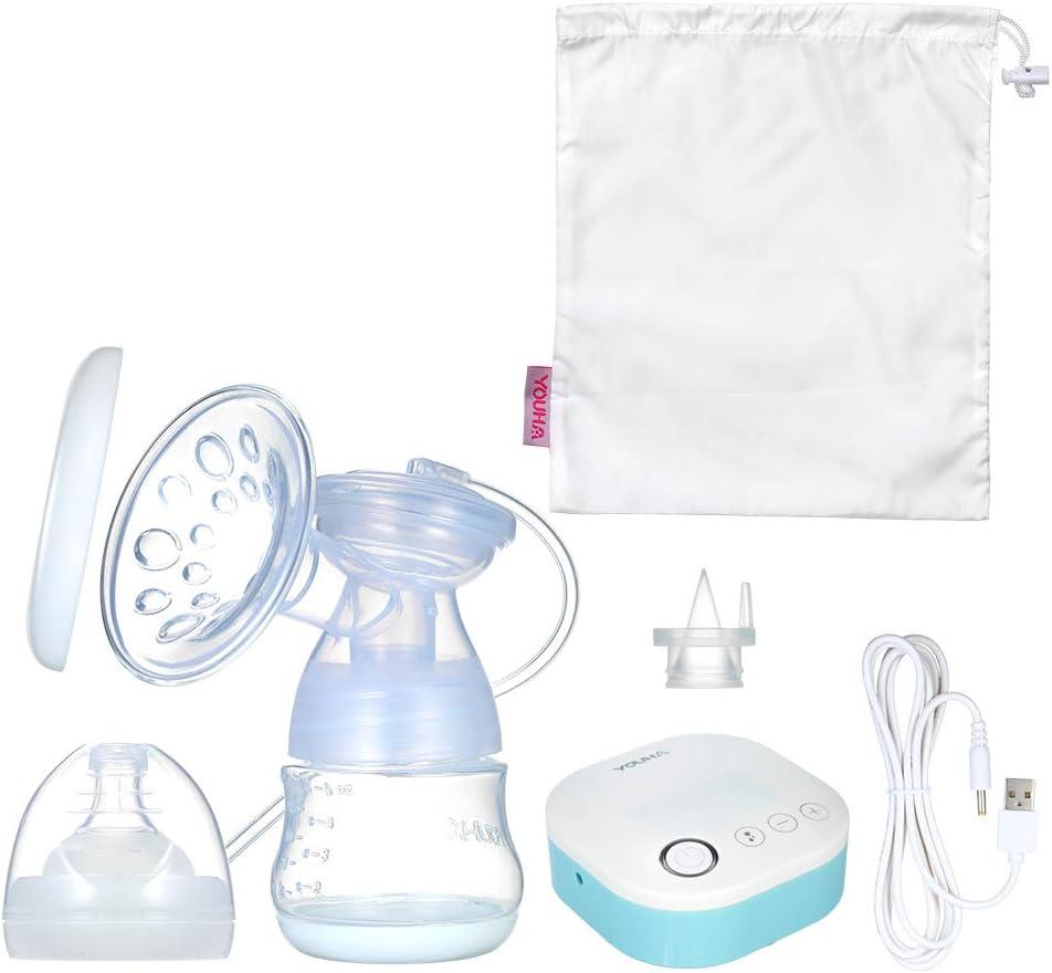 homese Bomba de lactancia el/éctrica individual port/átil de YOUHA Funci/ón de memoria Masaje y expresi/ón y mixto 3 modos 9 niveles Cada modo Bomba de lactancia recargable y silenciosa Libre de BPA