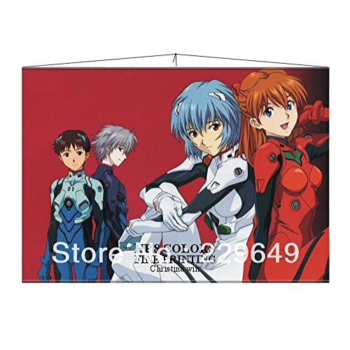 Anime family on Sale! Japanese Wall Scroll Poster Wall Hanging Anime Figure EVA-Neon Genesis Evangelion Animation Fans ()