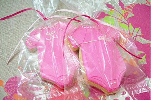 Pink Baby Onesie Decorated Cookies (12) Bakery Style Decorated Sugar Cookies Party Favors Individually Wrapped Girl Baby Shower