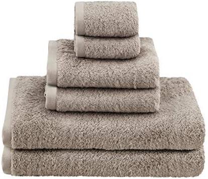 Cotton Towel Set Brown Bath Hand Towels Soft Extra Large XL Bathroom 6 pack