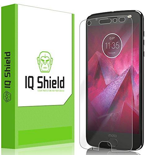 Moto Z2 Force Screen Protector, IQ Shield LiQuidSkin Full Coverage Screen Protector for Moto Z2 Force HD Clear Anti-Bubble Film